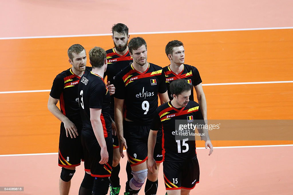 Belgium looks dejected during FIVB World League 2016 between France and Belgium on July 1, 2016 in Nancy, France.