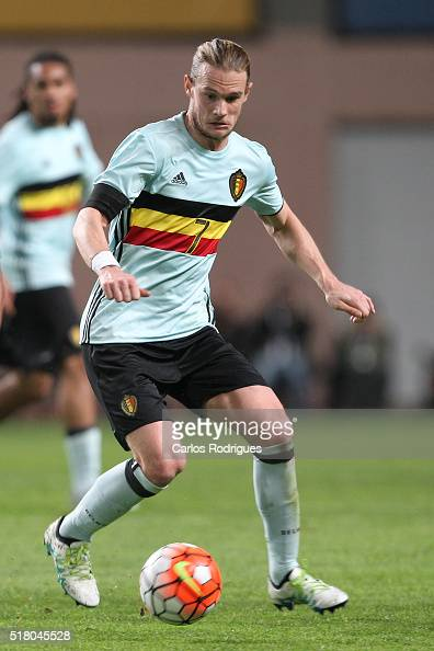 Belgium midfielder Guillaume Gillet during the match between Portugal and Belgium Friendly International at Estadio Municipal de Leiria on March 29...