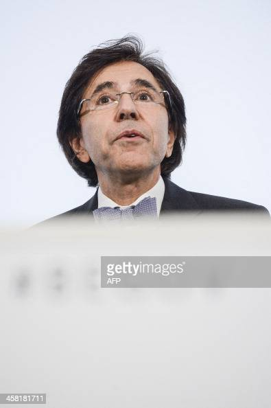 Belgium Prime Minister Elio Di Rupo attends a press conference after a Kern meeting a restricted ministers' government meeting in Brussels on...