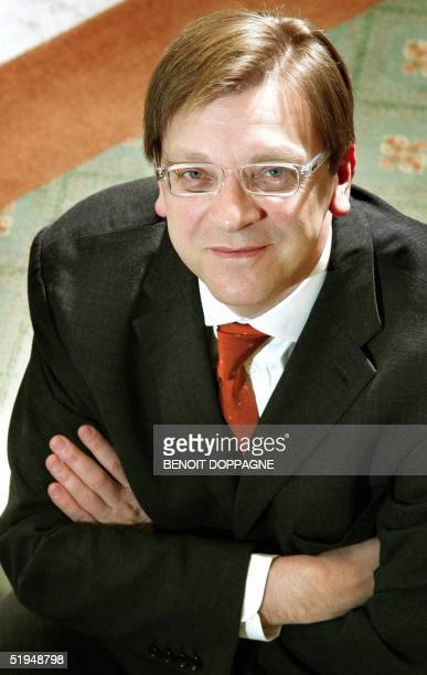 Belgium Prime Minister Guy Verhofstadt poses at his office in Brussels 13 January 2005 AFP PHOTO/BELGA/BENOIT DOPPAGNE