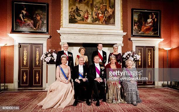 Belgium Queen Mathilde Dutch prince Piet van Vollenhoven Belgium King Philippe Dutch princess Margriet van Vollenhoven King WillemAlexander prince...