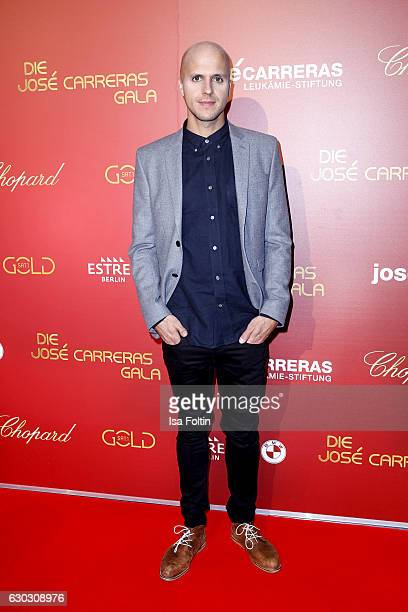 Belgium singer Milow attends the 22th Annual Jose Carreras Gala on December 14 2016 in Berlin Germany