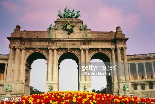 Belgium,Brussels,The Palais du Cinquantenaire : Stock Photo