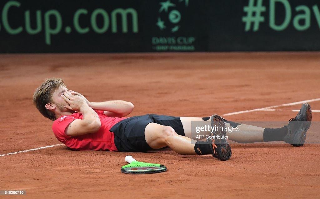 TENNIS-DAVIS-CUP-BEL-AUS : News Photo