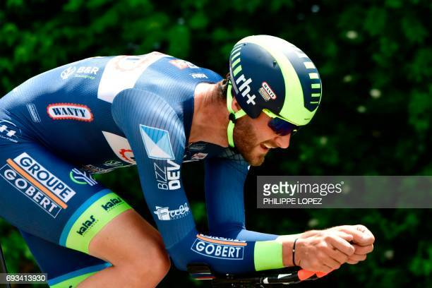 Belgium's Guillaume Van Keirsbulck rides during a 235 km individual timetrial the fourth stage of the 69th edition of the Criterium du Dauphine...