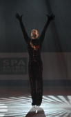 Belgium's Kevin Van Der Perren performs an exhibition program at the Dom Sportova Arena in Zagreb 27 January 2008 during the gala of the European...