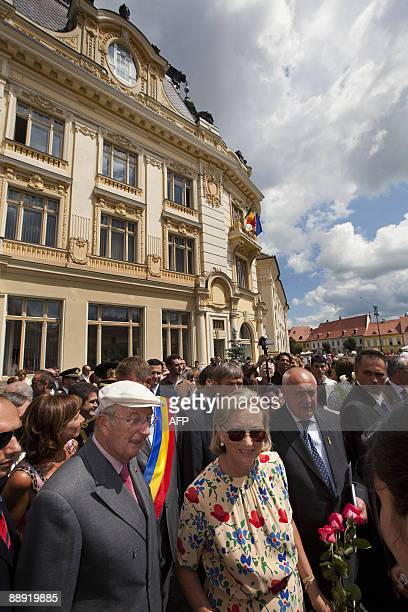 Belgium's King Albert II and Queen Paola visit Sibiu city on July 9 2009 Belgium's King Albert II and Queen Paola are on a threeday official state...
