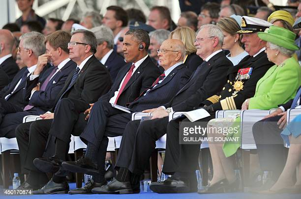 Belgium's King Philippe Netherlands' King WillemAlexander Poland's President Bronislaw Komorowski and US President Barack Obama Italy's President...