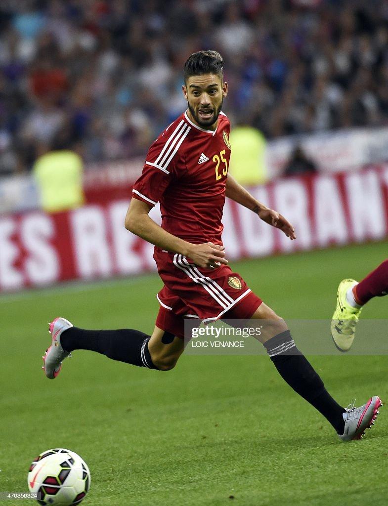 Belgium s midfielder Yannick Ferreira Carrasco controls the ball