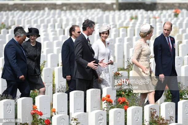 Belgium's Minister of Defence and Public Service Steven Vandeput and British Prime Minister Theresa May Vice Admiral Sir Timothy Laurence and...