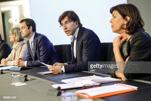 Belgium's Minister of Middle Class Small and medium sized enterprises selfemployed and Agriculture Sabine Laruelle VicePrime Minister and Minister of...