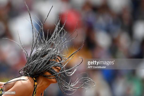 TOPSHOT Belgium's Nafissatou Thiam competes in the javelin throw of the women's heptathlon athletics event at the 2017 IAAF World Championships at...