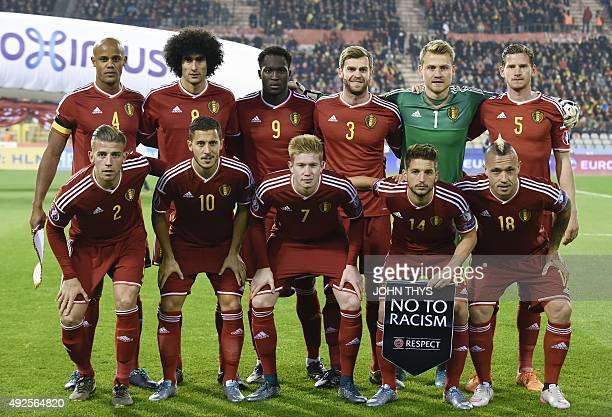 Belgium's national football team Toby Alderweireld Eden Hazard Kevin De Bruyne Dries Mertens Radja Nainggolan Vincent Kompany Marouane Fellaini...