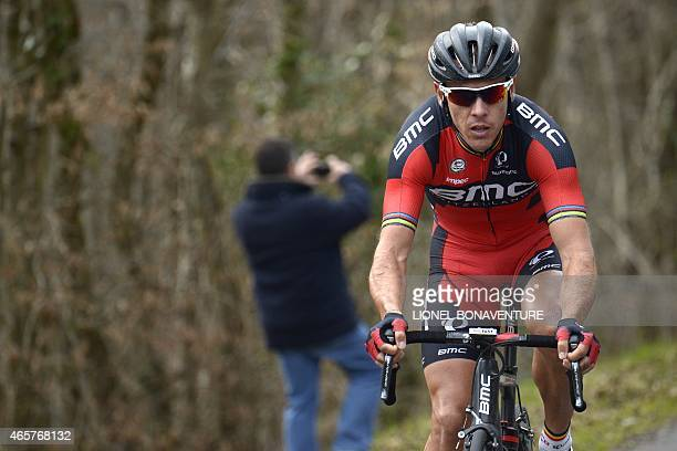 Belgium's Philippe Gilbert rides during the second stage of the 73rd edition of the ParisNice cycling race between the Beauval zoo in SaintAignan and...