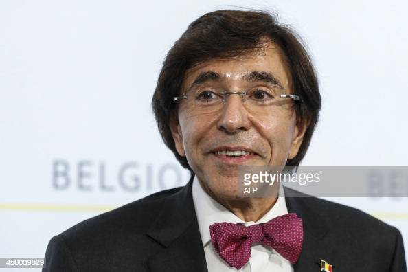 Belgium's Prime Minister Elio Di Rupo gives a press conference after a cabinet meeting at the Prime Minister's office in Brussels on December 13 2013...