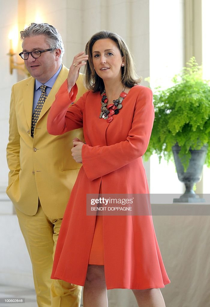 Belgium's Prince Laurent and Princess Claire arrives for a lunch with members of the Royal family and the jury members of the Queen Elisabeth International Music Competition - Piano 2010, at the Royal palace in Brussels on May 25, 2010.
