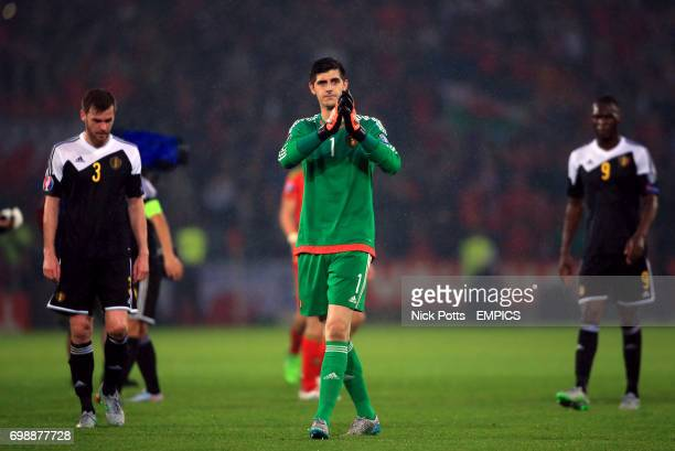 Belgium's Thibaut Courtois after the game