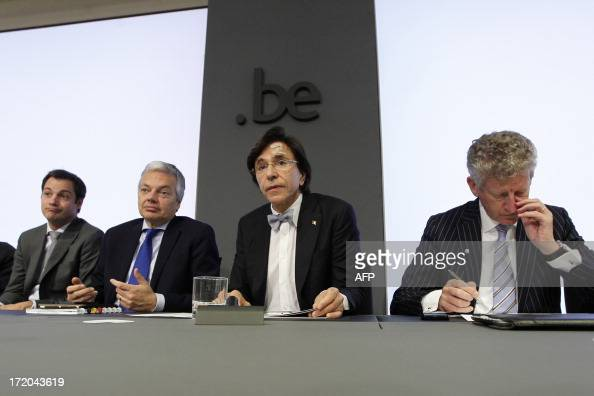 Belgium's VicePrime Minister and Minister of Pensions Alexander De Croo VicePrime Minister and Foreign Minister Didier Reynders Belgian Prime...