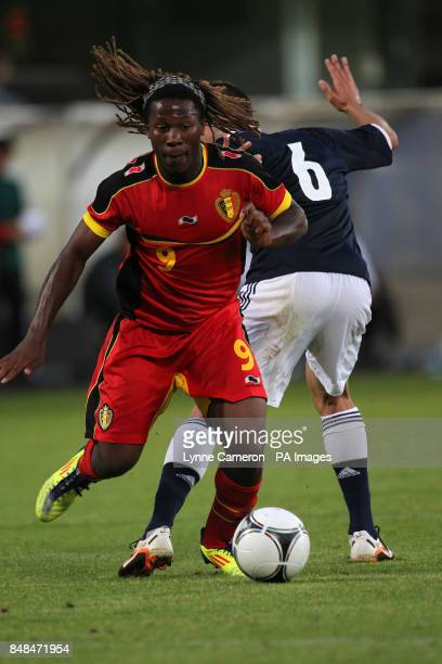 Belgium's Ziggy Badibanga and Scotland's Liam Kelly during the International Challenge match at East End Park Dunfermline PRESS ASSOICIATION Photo...
