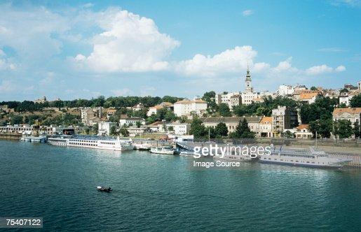 Belgrade and danube river