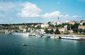 Belgrade and danube river
