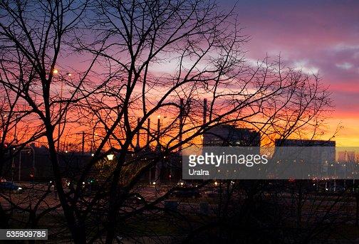 Belgrade à noite : Foto de stock