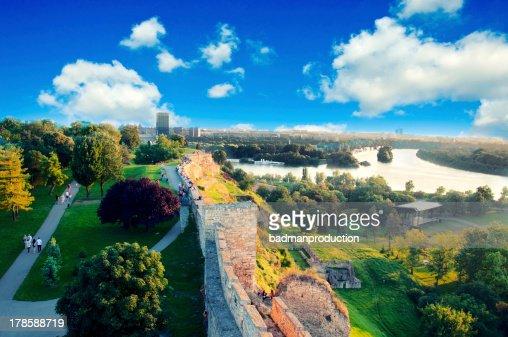 Belgrade panorama : Stock Photo