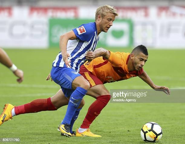Belhanda of Galatasaray vies during a friendly match between Galatasaray and Hertha Berlin as part of the Turkish Spor Toto Super Lig new season...