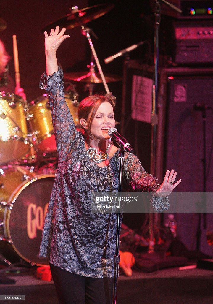 Belinda Carlisle of the Go-Go's performs at The Mountain Winery on July 9, 2013 in Saratoga, California.