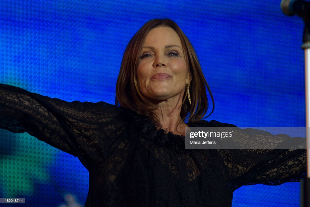 Belinda Carlisle performs at Temple Island Meadows on August 22 2015 in HenleyonThames England