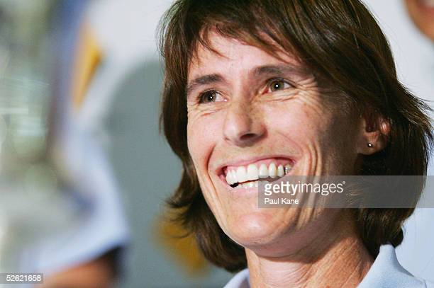 Belinda Clark Captain of the Commonwealth Bank Southern Stars womens cricket team at the press conference for the Australian team's World Cup victory...