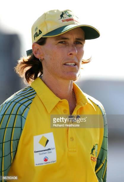 Belinda Clark of Australia before the start of the Women's Twenty20 match between England Ladies and Australia Ladies at Somerset CCC on September 2...