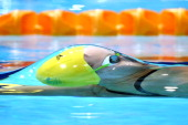 Belinda Hocking of Australia competes in the Women's 100m Backstroke Heat 2 at Tollcross International Swimming Centre during day two of the Glasgow...