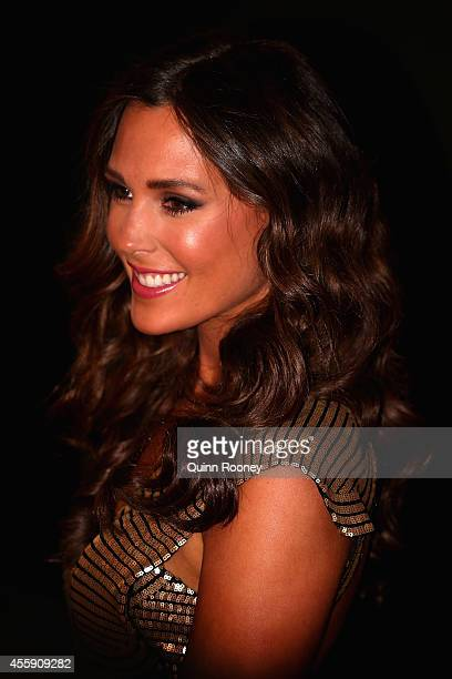 Belinda Riverso the partner of Rory Sloane of the Crows attends the 2014 Brownlow Medal at Crown Palladium on September 22 2014 in Melbourne Australia