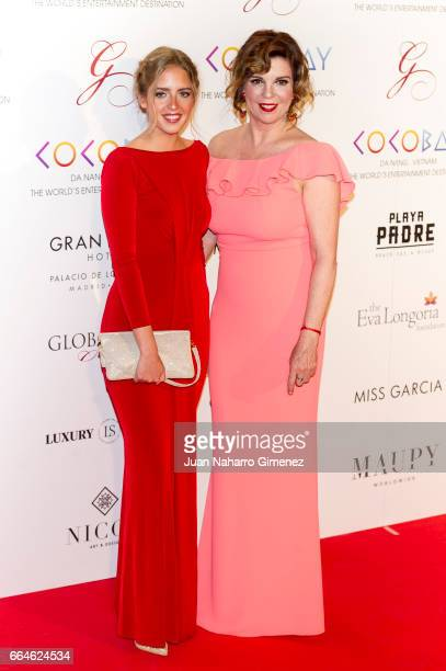 Belinda Washington and Adrea Lazaro attend the Global Gift Gala 2017 at the Royal Teather on April 4 2017 in Madrid Spain