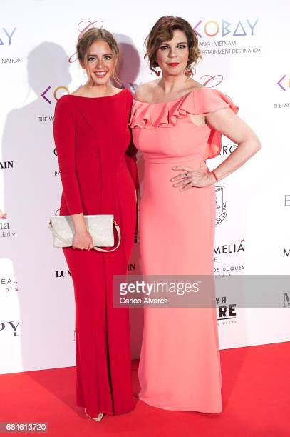 Belinda Washington and Andrea Lazaro attend the Global Gift Gala 2017 at the Royal Teather on April 4 2017 in Madrid Spain