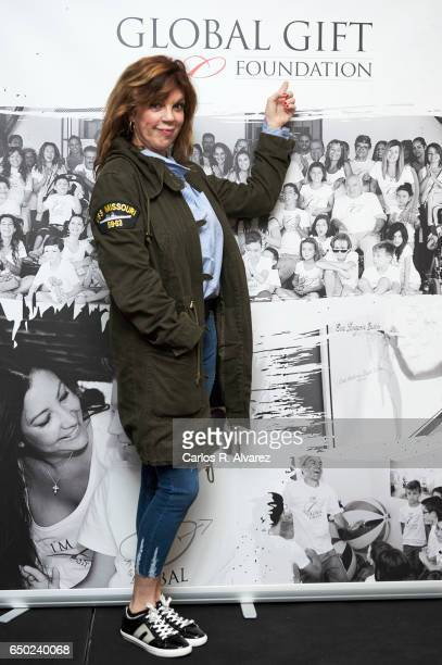 Belinda Washington attends the 'Global Gift Gala' Madrid 2017 presentation at the Palacio de los Duques Hotel on March 9 2017 in Madrid Spain