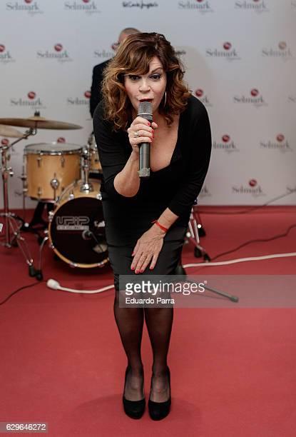 Belinda Washington attends the Selmark Christmas show photocall at Loft 39 on December 14 2016 in Madrid Spain