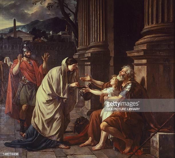 Belisarius begging for alms by JacquesLouis David Lilla Musée Des BeauxArts
