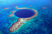 Belize - Blue Hole from the Air