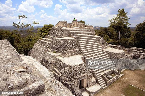 Belize, Caracol, ruins of Mayan pyramid