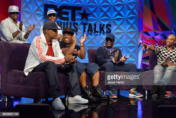 Bell Biv Devoe and Charlamagne tha God at day one of Genius Talks sponsored by ATT during the 2017 BET Experience at Los Angeles Convention Center on...