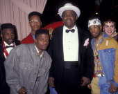 Bell Biv Devoe and Willie Dixon attend BMI Music Awards on May 21 1991 at the Beverly Wilshire Hotel in Beverly Hills California