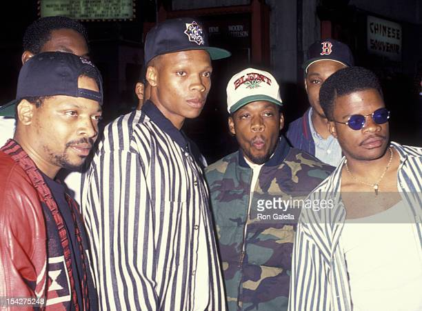 Bell Biv Devoe attends the premiere of 'Who's The Man' on April 22 1993 at Mann Chinese Theater in Hollywood California