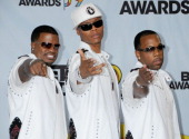 Bell Biv DeVoe posing in the pressroom for the 2009 BET Awards at the Shrine Auditorium in Los Angeles California on June 28 2009