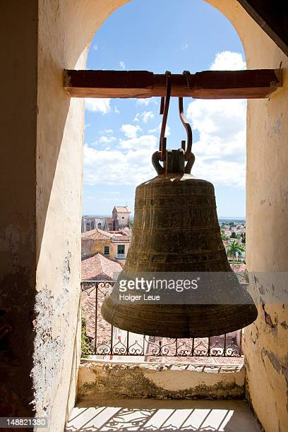 Bell in bell tower of former convent of San Francisco de Asis.
