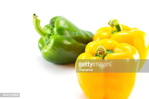 Bell pepper on  white background : Stock Photo