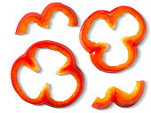 Cut rings of a bell pepper