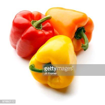 Bell Pepper Trio : Stock Photo