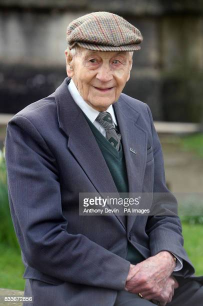 Bell ringer Norman Yeo who is 100 years old tomorrow arrives to ring the bells for the Sunday service at All Saints Church in Long Ashton Bristol